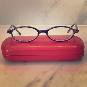 Valentino Brown Plastic Frame Eyeglasses